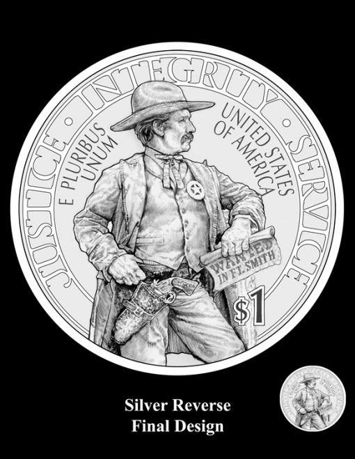 2015 US Marshals Service Silver Dollar Design (Reverse)