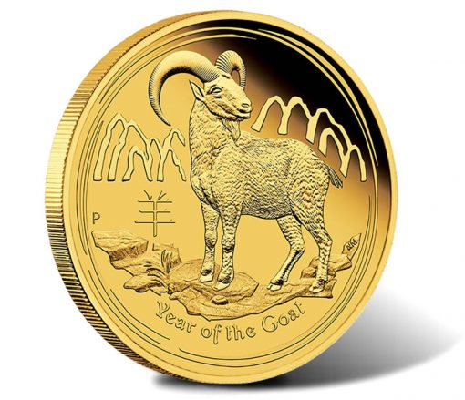 2015 Year of the Goat Gold Proof Coin