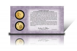 Back of 2014 Franklin D. Roosevelt $1 Coin Cover