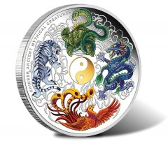 Chinese Ancient Mythical Creatures Featured on 5 Oz Silver Coin