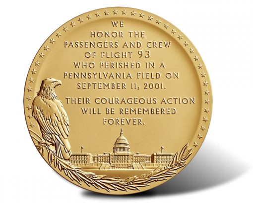 Fallen Heroes of September 11, 2001 -  The Flight 93 Medal (Reverse)
