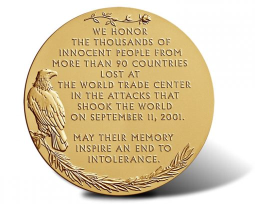 Fallen Heroes of September 11, 2001 - The New York Bronze Medal (Reverse)