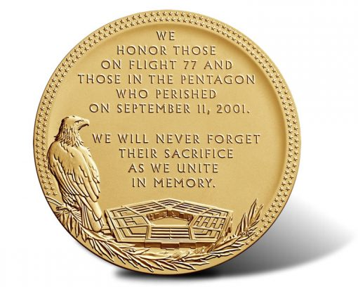 Fallen Heroes of September 11, 2001 - The Pentagon Medal (Reverse)