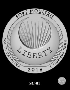 Fort Moultrie Quarter and Coin Design Candidate - SC-01