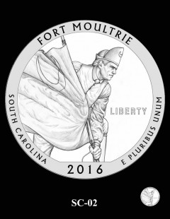 Fort Moultrie Quarter and Coin Design Candidate - SC-02