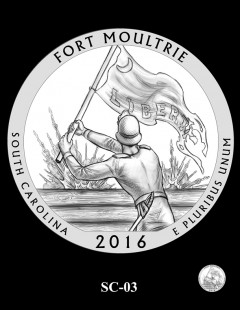 Fort Moultrie Quarter and Coin Design Candidate - SC-03