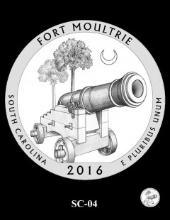 Fort Moultrie Quarter and Coin Design Candidate - SC-04