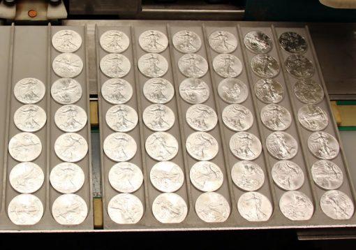 Freshly Minted bullion American Silver Eagles