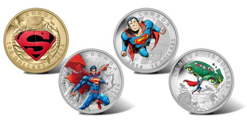 Royal Canadian Mint 2014 Superman Coins