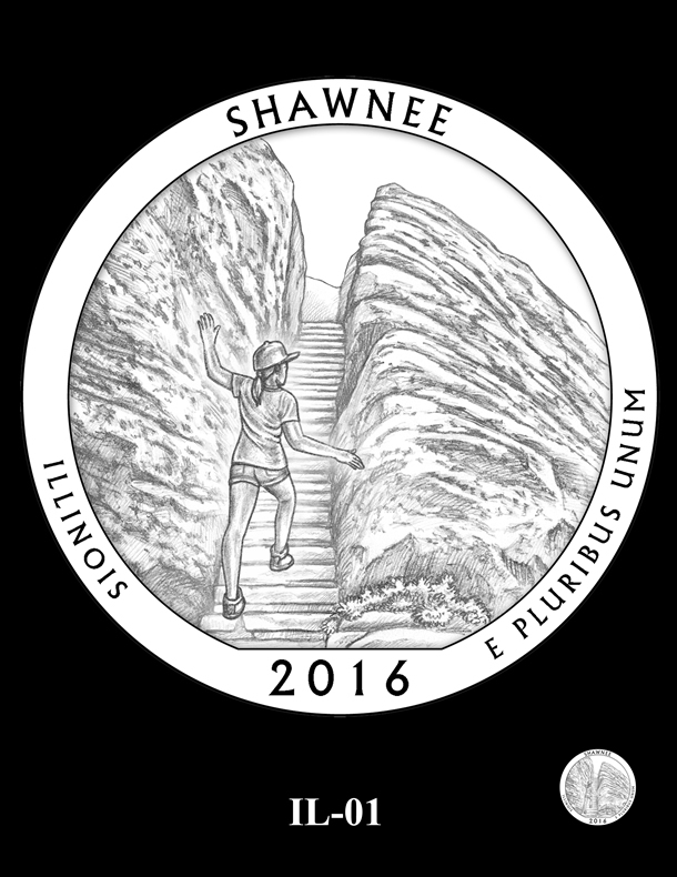 Shawnee National Forest Quarter and Coin Design Candidate - IL-01