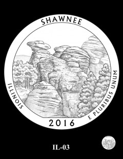 Shawnee National Forest Quarter and Coin Design Candidate - IL-03