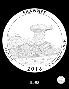 Shawnee National Forest Quarter and Coin Design Candidate - IL-05