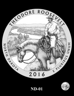 Theodore Roosevelt National Park Quarter and Coin Design Candidate - ND-01