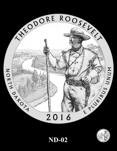Theodore Roosevelt National Park Quarter and Coin Design Candidate - ND-02