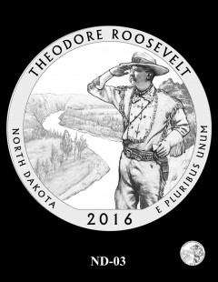 Theodore Roosevelt National Park Quarter and Coin Design Candidate - ND-03