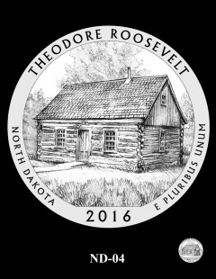 Theodore Roosevelt National Park Quarter and Coin Design Candidate - ND-04
