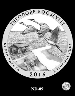 Theodore Roosevelt National Park Quarter and Coin Design Candidate - ND-09