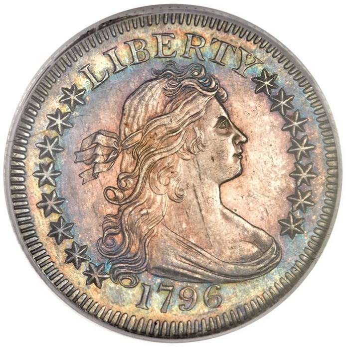 1796 Draped Bust Quarter, MS63