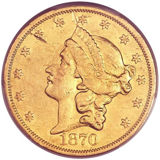 1870-CC Double Eagle, VF30
