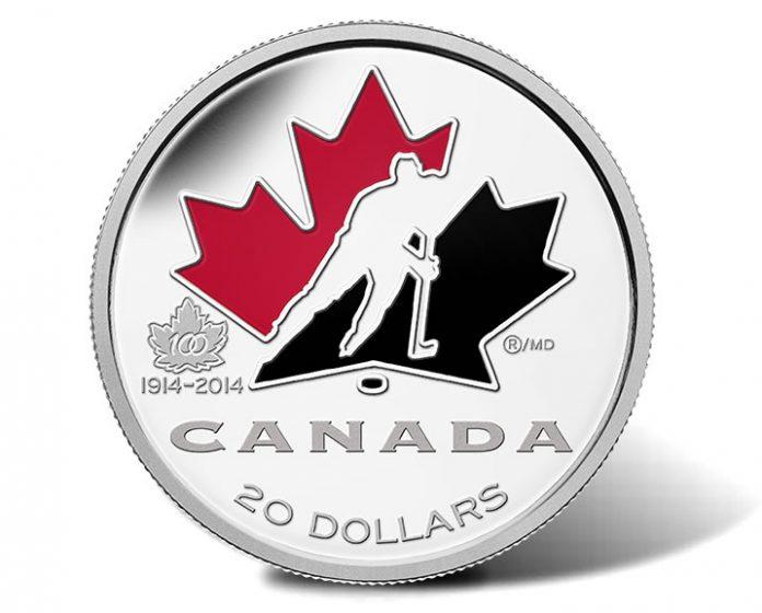 2014 100th Anniversary of Hockey Canada 1 oz. Fine Silver Coin