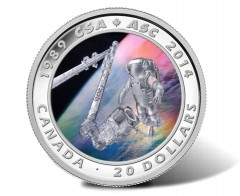 2014 Canadian Space Agency Silver Coin Launches