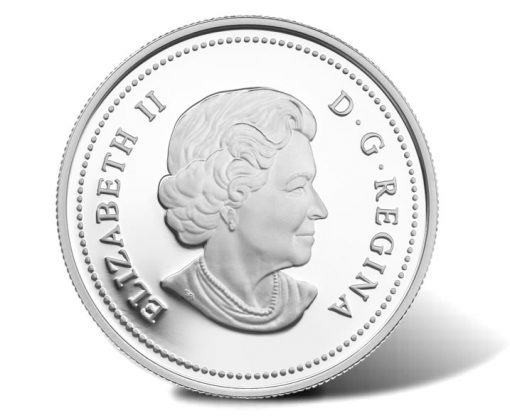 2014 25th Anniversary Canadian Space Agency Silver Coin - Obverse