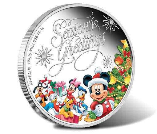 2014 Disney Season's Greetings Silver Proof Coin