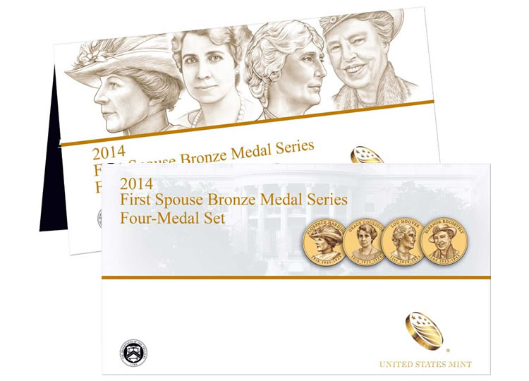 Four Medals in Original Mint Packaging 2012 First Spouse Bronze Medal Set