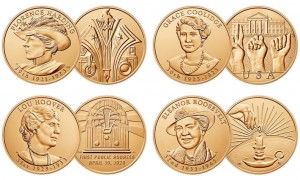2014 First Spouse Bronze Four-Medal Set