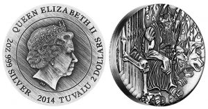 2014 Hades High Relief Coin Ends Gods of Olympus Series