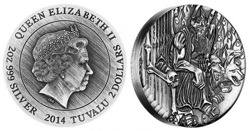 2014 Hades High Relief 2 Oz Silver Coin