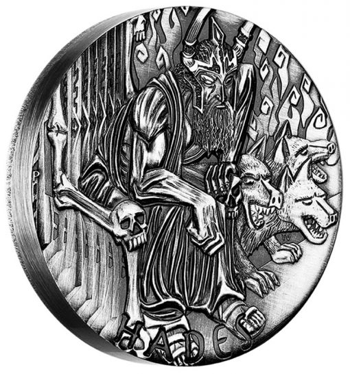 2014 Hades High Relief 2 Oz Silver Coin - Reverse
