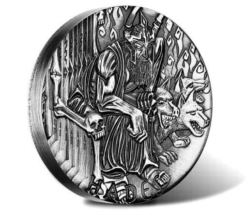 2014 Hades High Relief Silver Coin