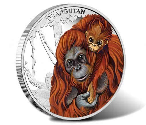 2014 Orangutan Silver Proof Coin Mother's Love Series