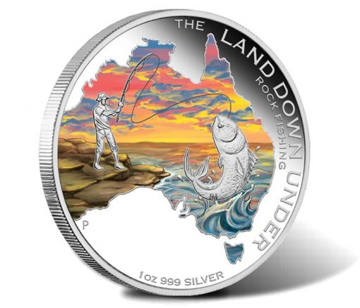 2014 Rock Fishing Silver Coin Land Down Under Series