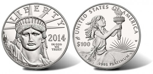 2014-W Proof American Platinum Eagle Coin