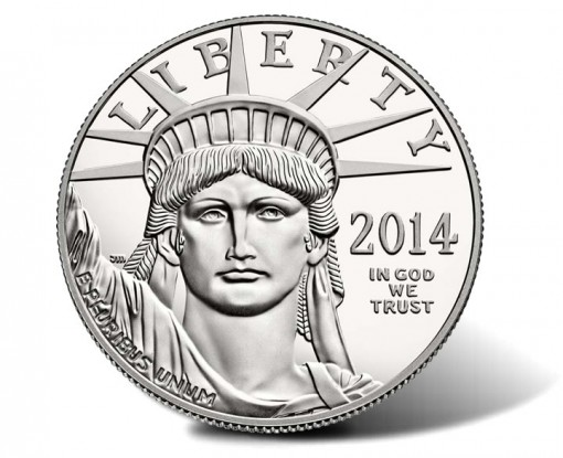 2014-W Proof American Platinum Eagle Coin - Obverse