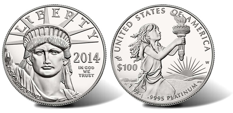 2014 W Proof American Platinum Eagle Coin Available Coin
