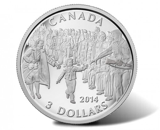 2014 Wait For Me, Daddy 1/4 Oz Silver Coin