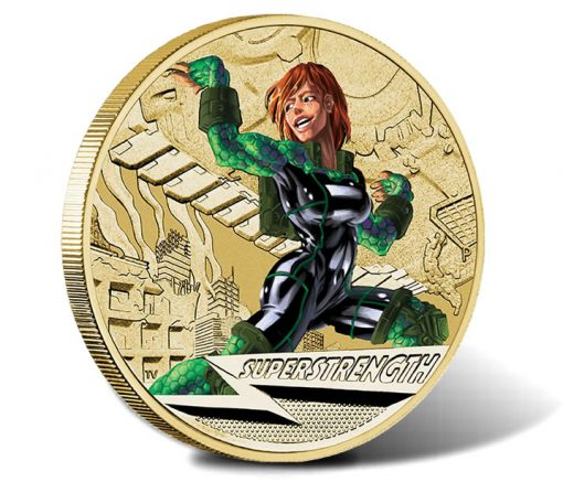 2014 Young Collectors Superpowers Series Super Strength Coin