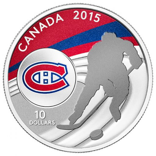 2015 $10 Montreal Canadiens Hockey Silver Coin