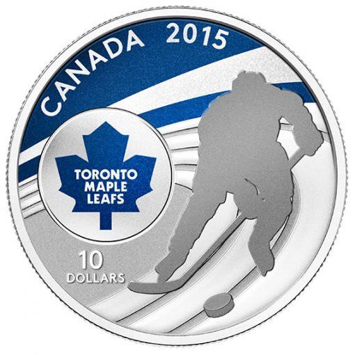 2015 $10 Toronto Maple Leafs Hockey Silver Coin