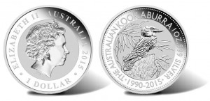1990-2015 Kookaburra Silver Bullion Coin Designs