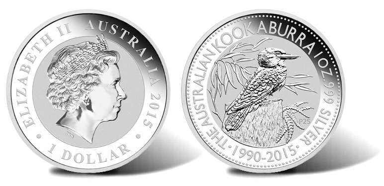 1990 2015 Kookaburra Silver Bullion Coin Designs Coin News