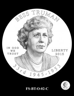 2015 First Spouse Gold Coin Design Candidate - FS-BT-O-02-C