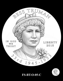 2015 First Spouse Gold Coin Design Candidate - FS-BT-O-05-C