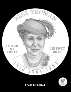 2015 First Spouse Gold Coin Design Candidate - FS-BT-O-06-C