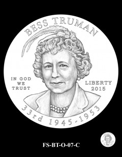 2015 First Spouse Gold Coin Design Candidate - FS-BT-O-07-C