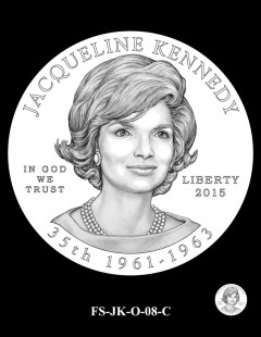2015 First Spouse Gold Coin Design Candidate - FS-JK-O-08-C