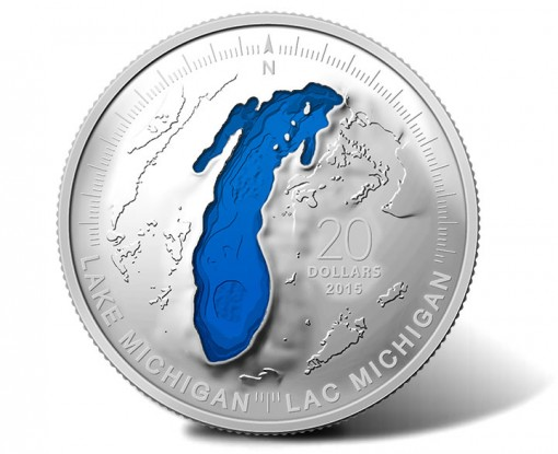 2015 Lake Michigan 1 oz Fine Silver Coin